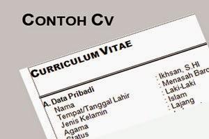 Gambar untuk Contoh CV Lamaran Kerja yang Menarik