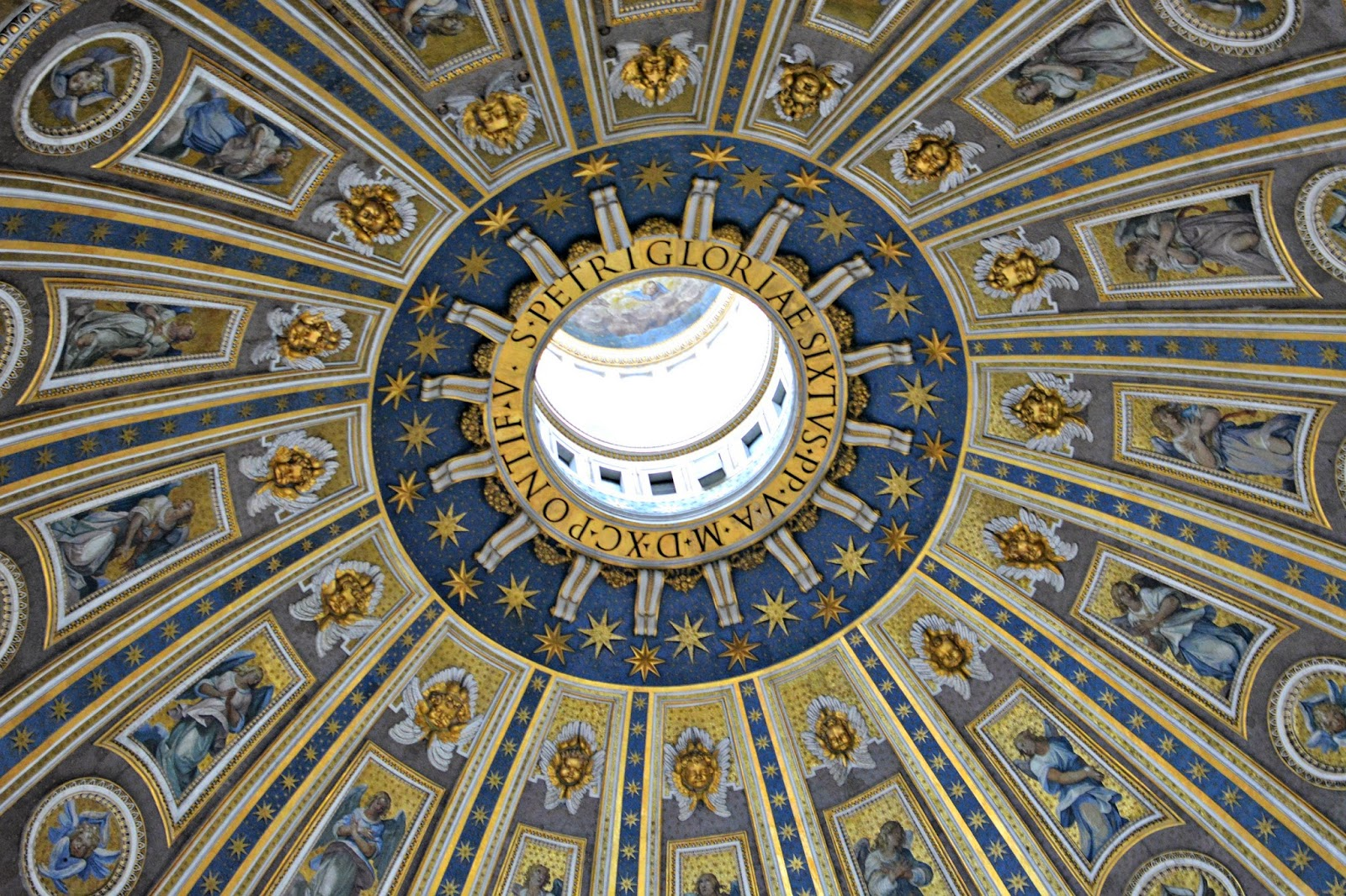 Ceiling of St Peter's Basilica dome