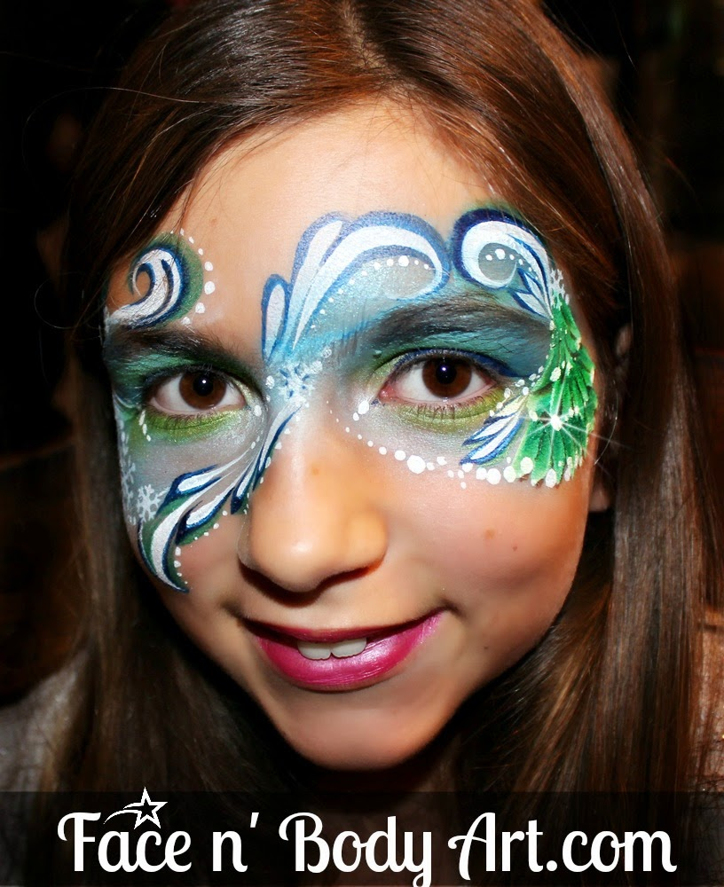 Christmas tree face painting ideas the for Latest face painting designs