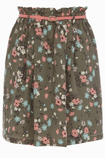 brown paperbag skirt