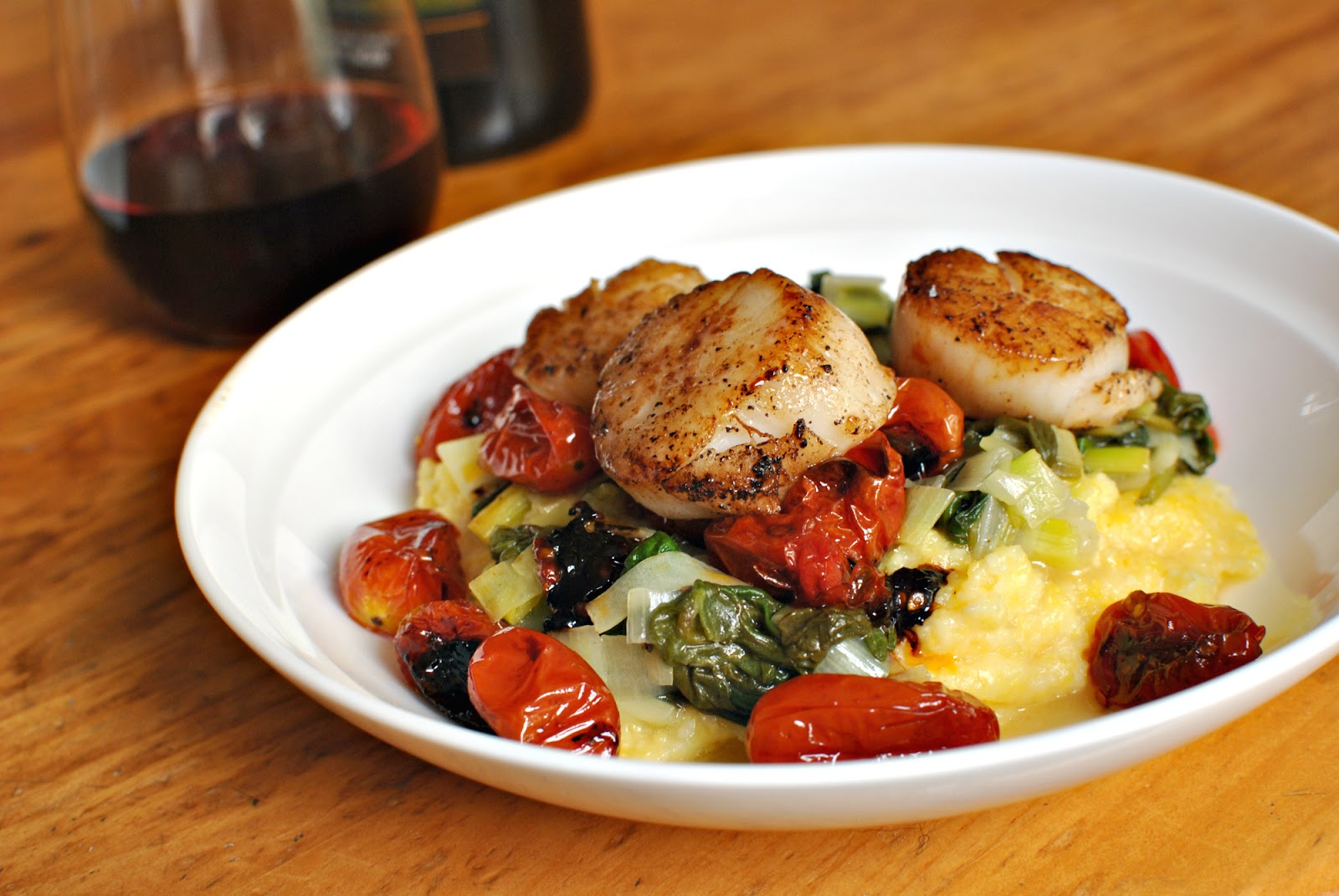 Scallops On Creamy Leeks Recipes — Dishmaps