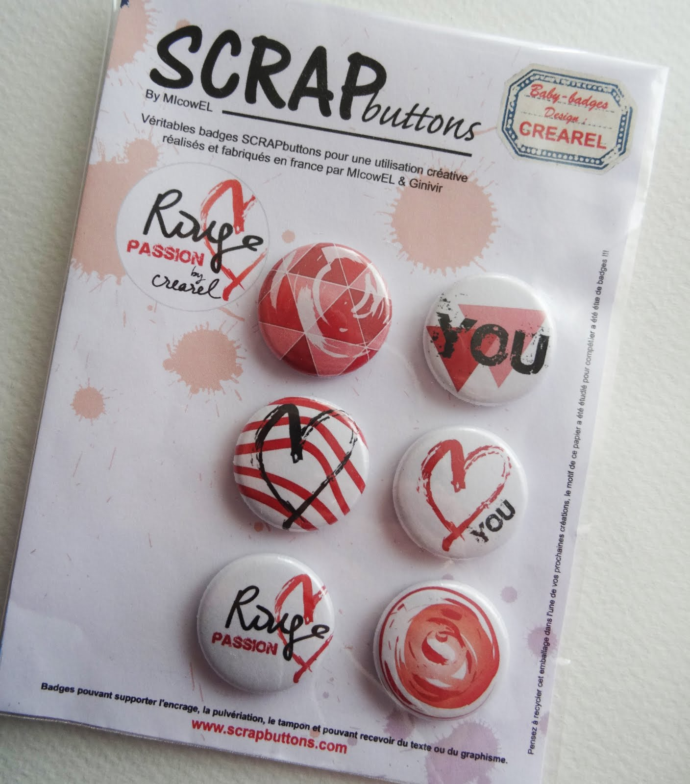 "Badges ""Rouge Passion"""