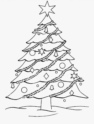 christmas tree coloring pages for kids - Free Coloring Pages for Kids