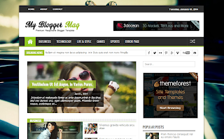 My Blogger Mag Responsive Blogger Template
