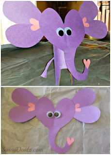 valentines day elephant crafts