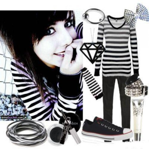 Emo Different Colours Clothes Fashion Hbo Fashion