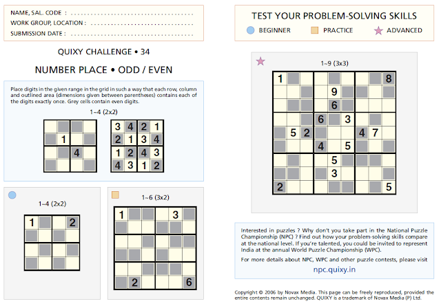 Even Odd Sudoku Puzzles