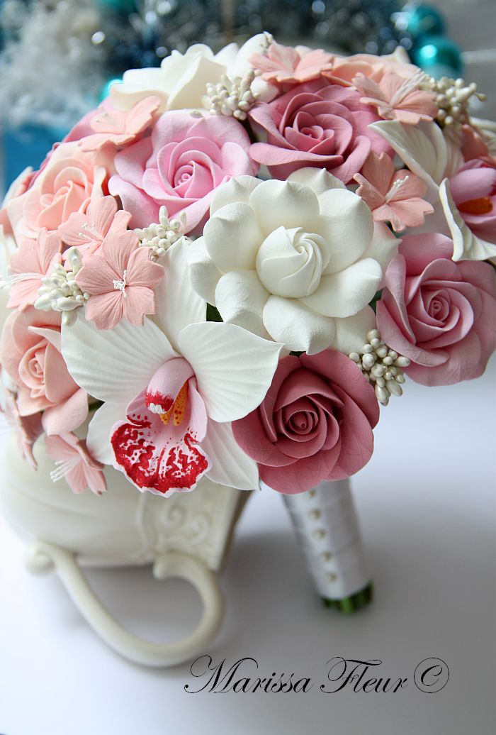 A Touch Of Beauty...: Bridal Bouquet With Cymbidium Orchids ...
