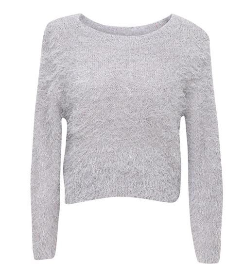 Snowflake Angora-blend Sweater
