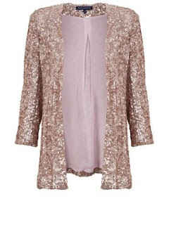 french connection jacket with pale pink sequins