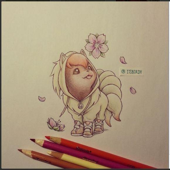 Pokemon Vulpix Drawing Pokemon Vulpix With Hooded