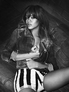 Rihanna in Armani jeans campaign