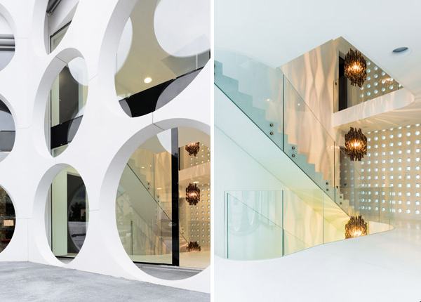 rumah mewah dengan penampilan unik desain rumah modern
