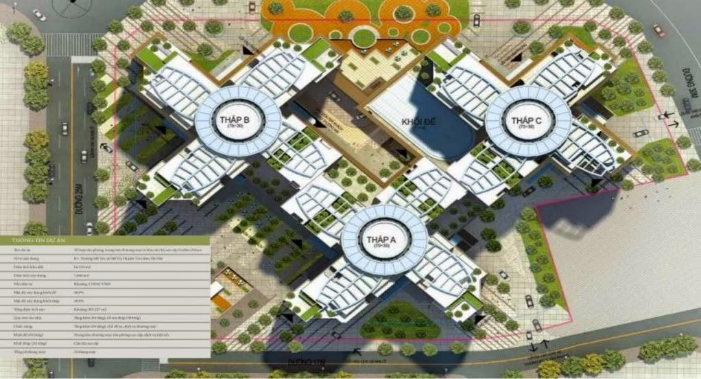 Phối cảnh dự án chung cư Golden Palace Mễ Trì