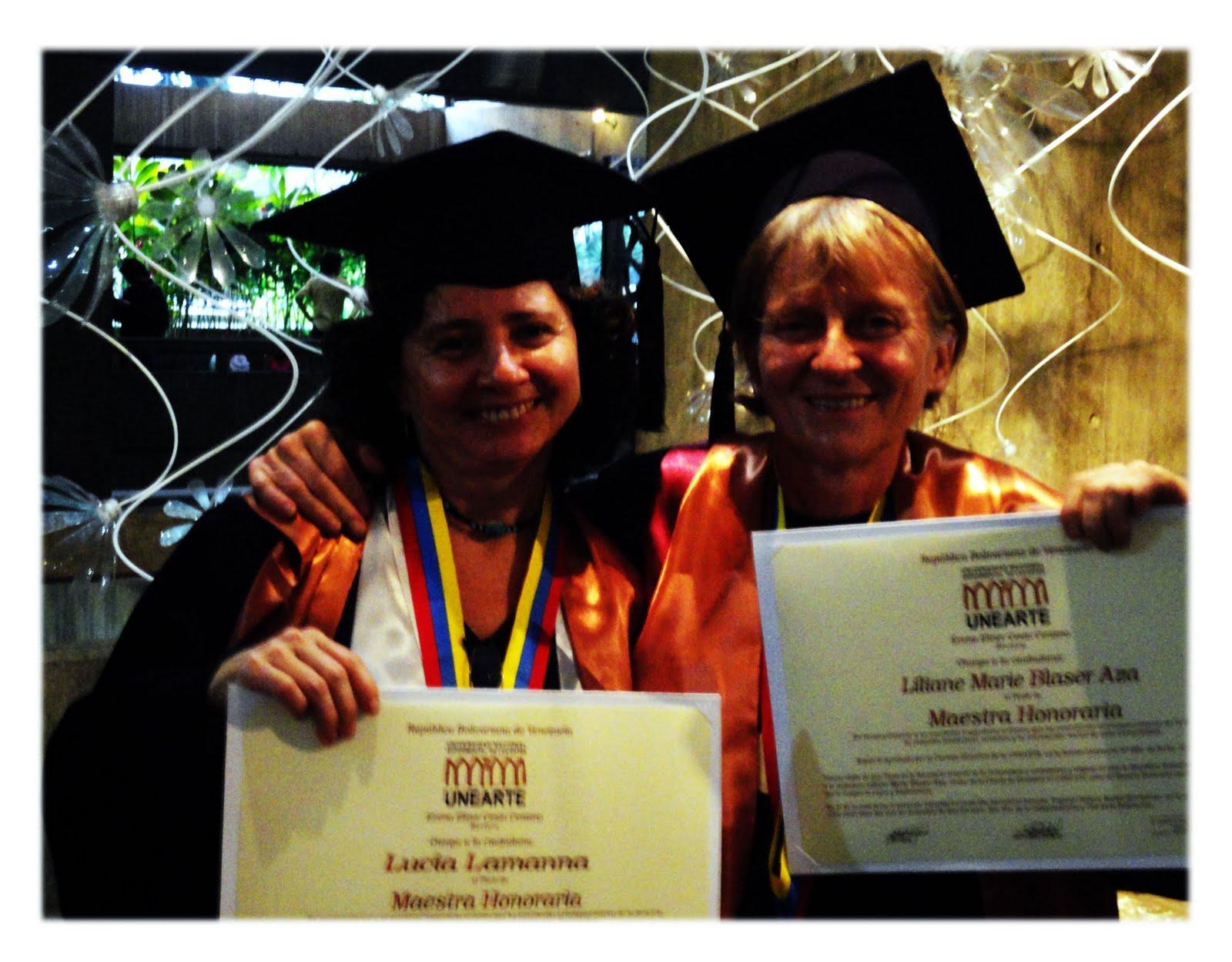 Universidad Experimental de las Artes, Título de Maestras Honorarias Artes Audiovisuales UNEARTE
