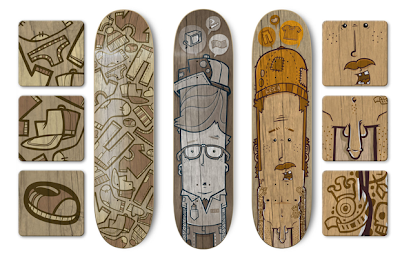 skateboard artwork - tribal artwork