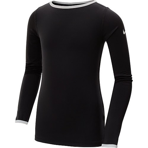 Nike Girls' Pro Hyperwarm 3.0 Crew Long-Sleeve Top