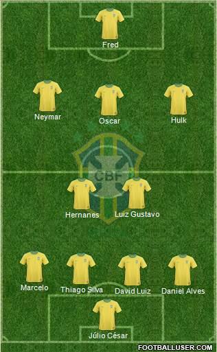 Seleção brasileira 22-06-2013 jogo copa confederacoes