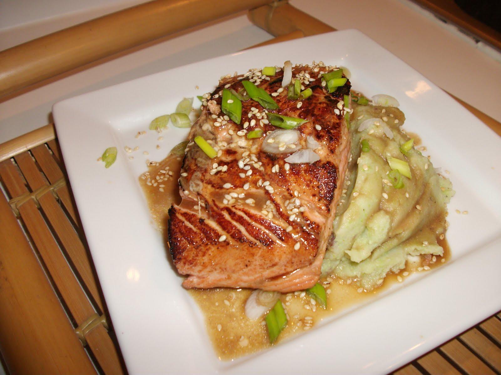 ... Salmon with Wasabi Potato-Edamame Mash - From Everyday To Gourmet