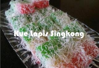 Resep Kue Lapis Singkong rainbow