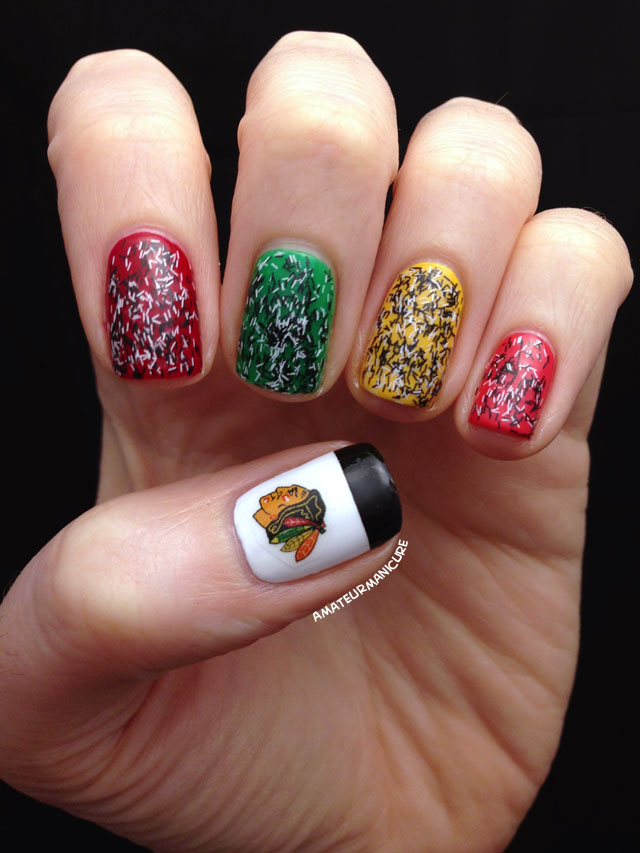 Amateur Manicure A Nail Art Blog Nail Art Chicago Blackhawks