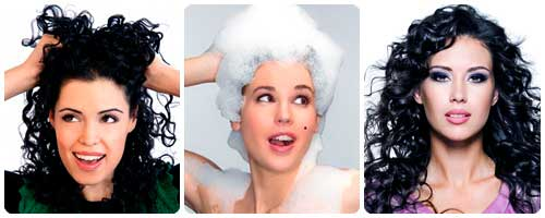 Como peinar el pelo rizado collage