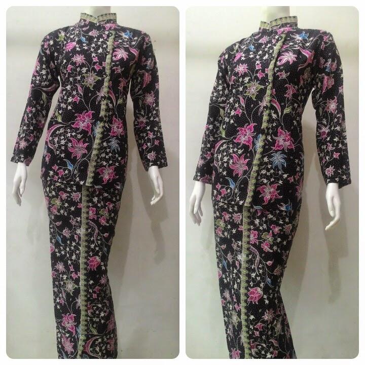 Baju Batik Pramugari Motif Melati