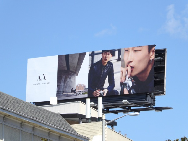 Armani Exchange Fall15 Sang Woo Kim billboard