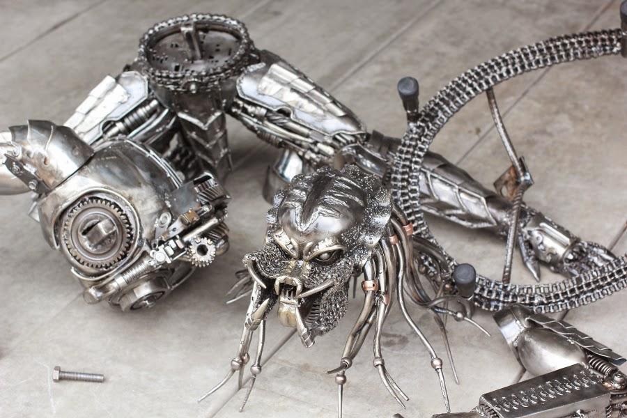 Steampunk metal wall art