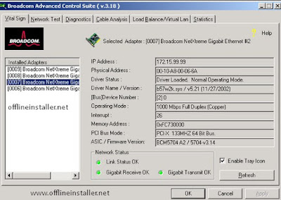 Broadcom Netxtreme Gigabit Ethernet Drivers for windows