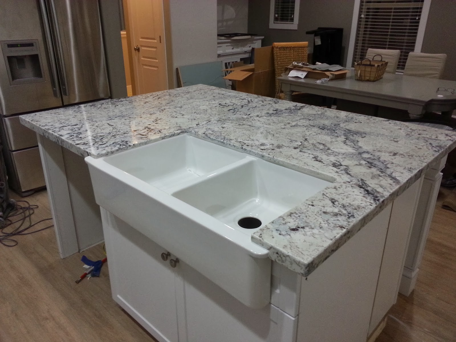Affordable Custom Cabinets and Granite Countertops 2cm White Ice