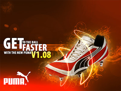 new puma shoes - creative artwork
