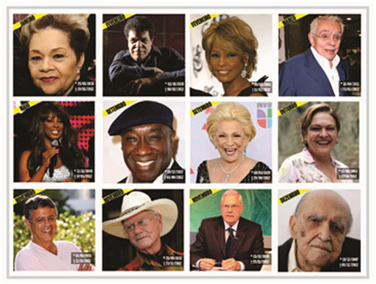 RETROSPECTIVA 2012: 12 FAMOSOS QUE A GENTE VAI MORRER DE SAUDADE  VEJA DETALHES