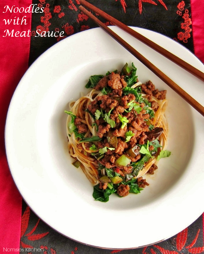 Noodles with Meat Sauce Recipe from Nomsies Kitchen