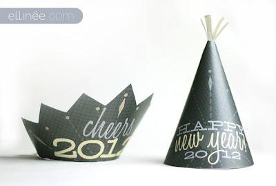 partyhatstemplate New Years Printable Roundup