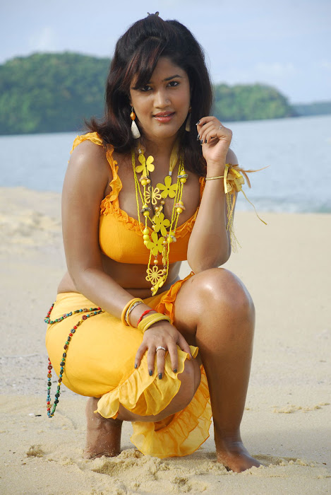 sowmya spicy from mugguru movie, sowmya exposing hot images