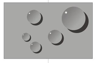 Cara membuat objek Butiran Air di Coreldraw