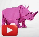 como hacer rinoceronte de origami