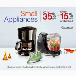 Amazon: Buy Small Appliances upto 48% off + 15% off from Rs. 354