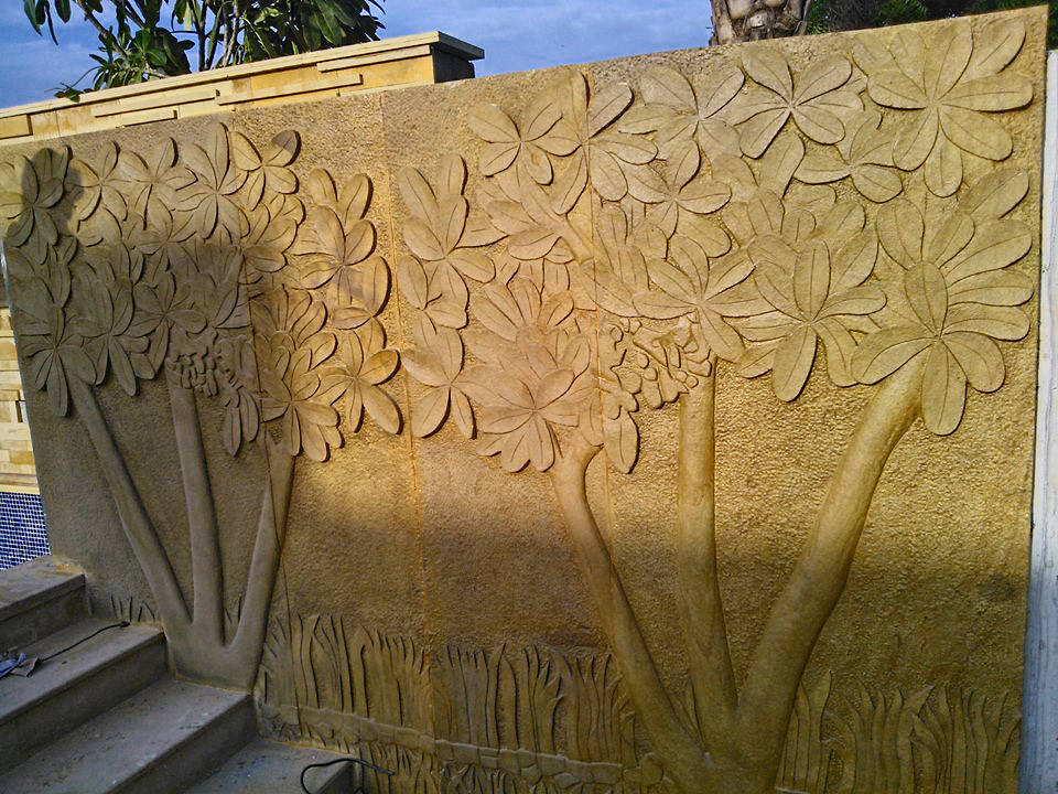 Stone Carving Designs For Interior And Landscapes Kerala