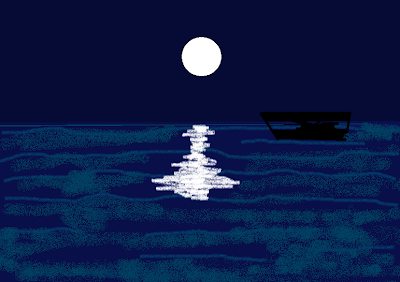 Moonlight over Sea
