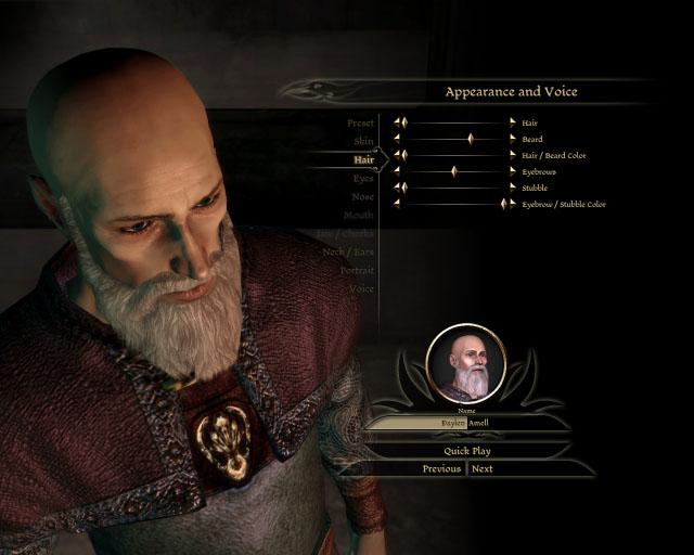 Dragon Age Origin Character Creator Face Editor