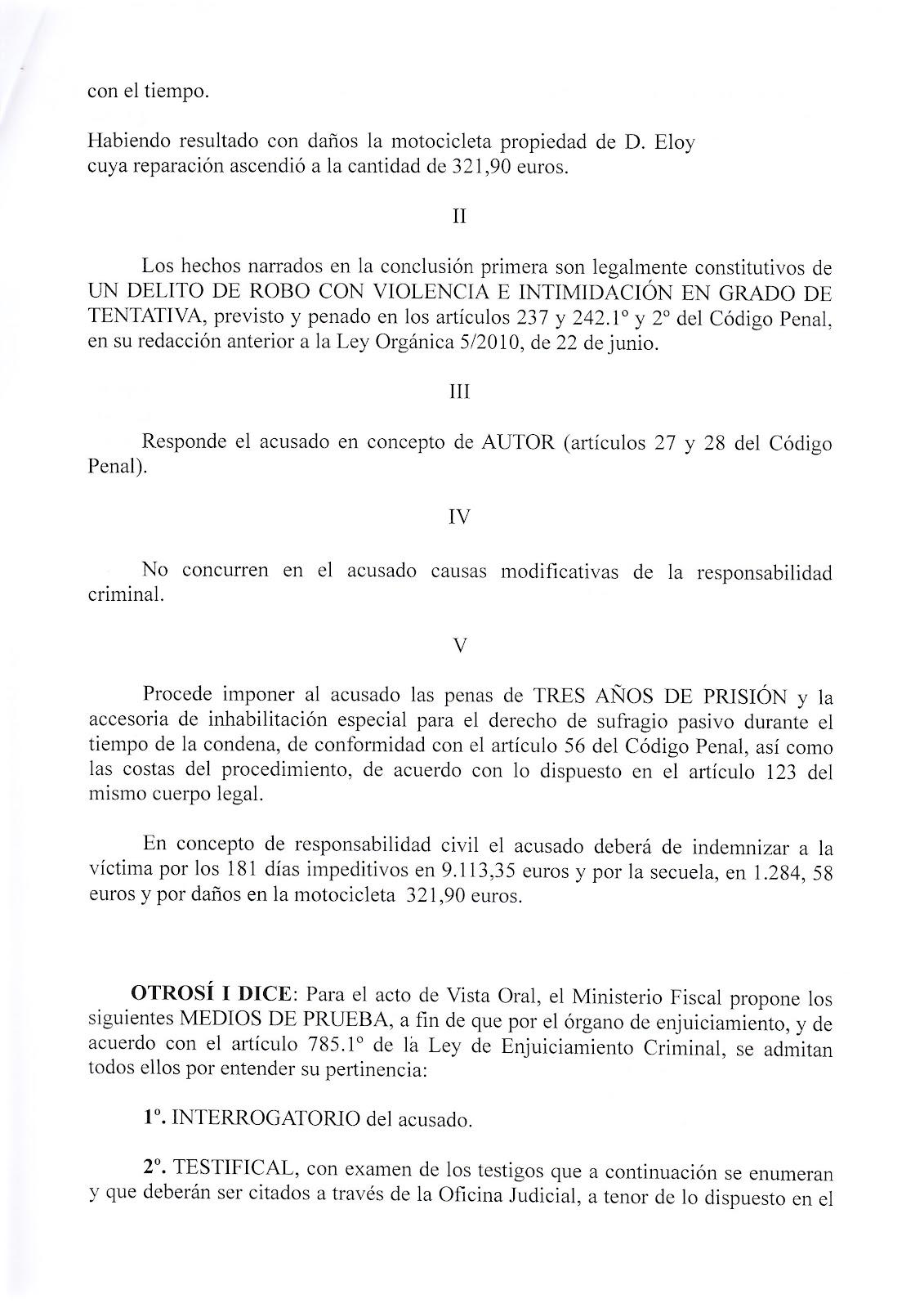 AULA JUDICIAL: Escrito de Acusación del Ministerio Fiscal. Juicio 5º ...