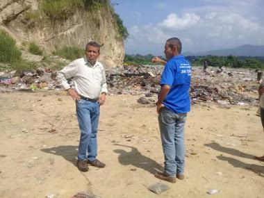Ramón Guevara inspeccionó terrazas del relleno sanitario de Onia Culegría