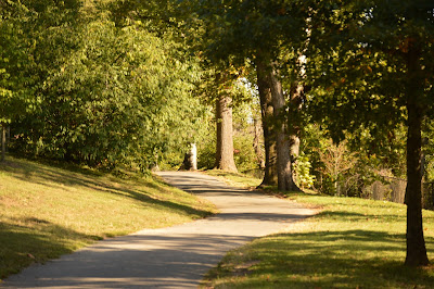 Hiking on the walking path at Maymont