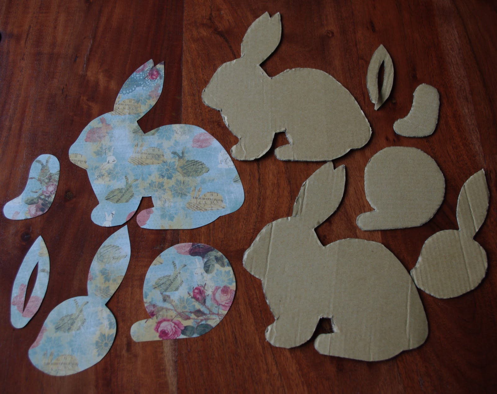 Easter Bunny Shape Cutouts