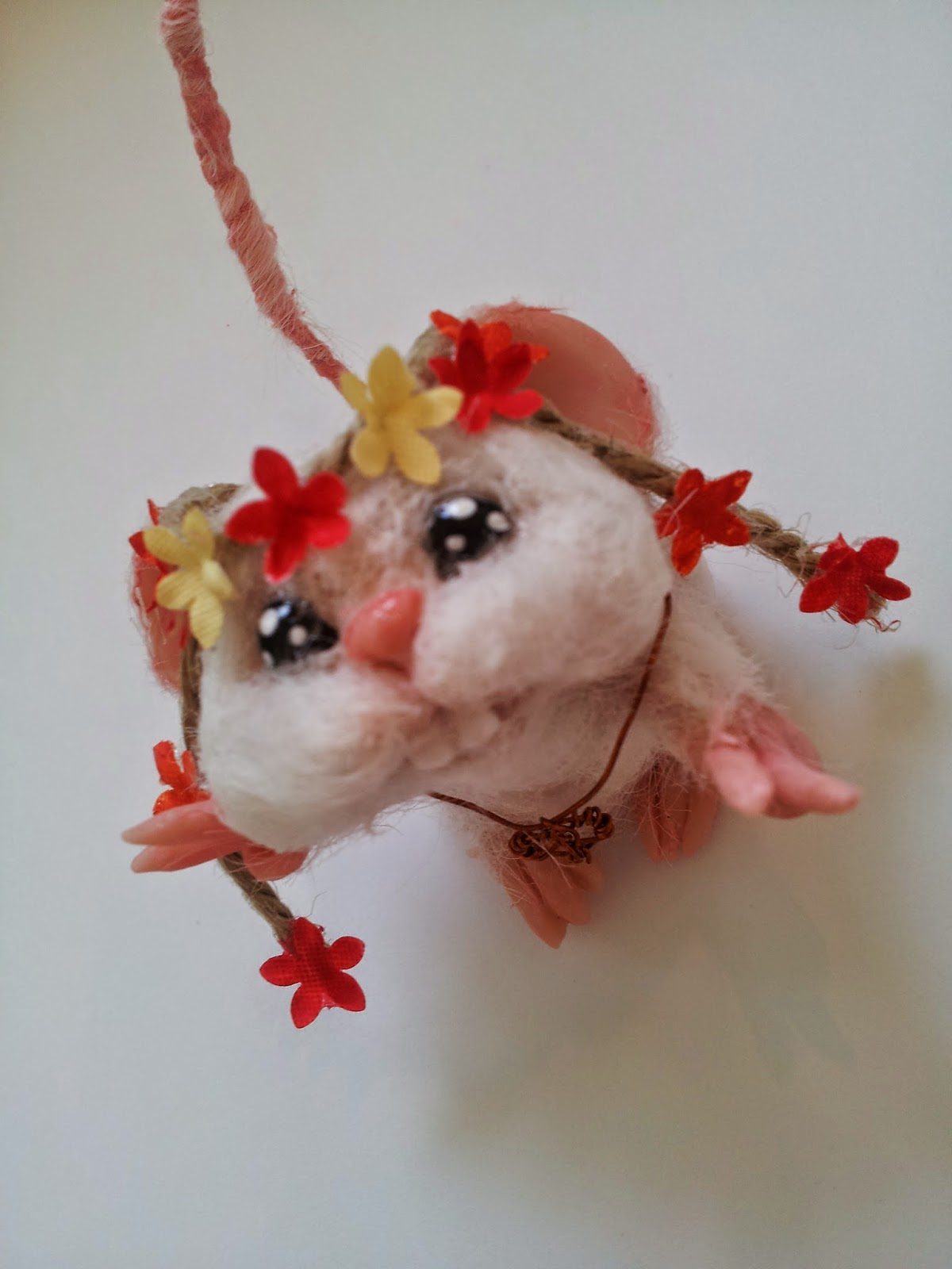 ooak mouse mice topo polimery clay miniature animal cute