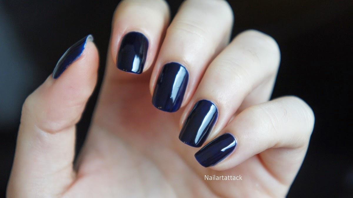 Vernis ongles bleu fonc Ongle bleu marine