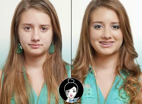 maquillaje colorido para chica adolescente