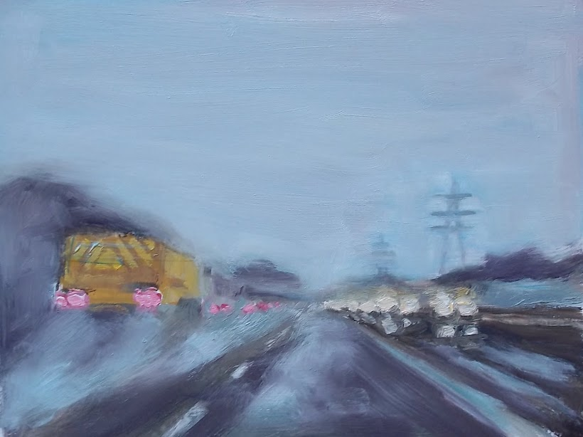Rush Hour in the Pouring Rain SOLD